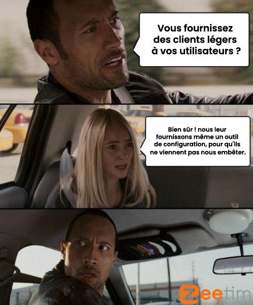 Impossibilité de modifier localement la configuration des clients légers