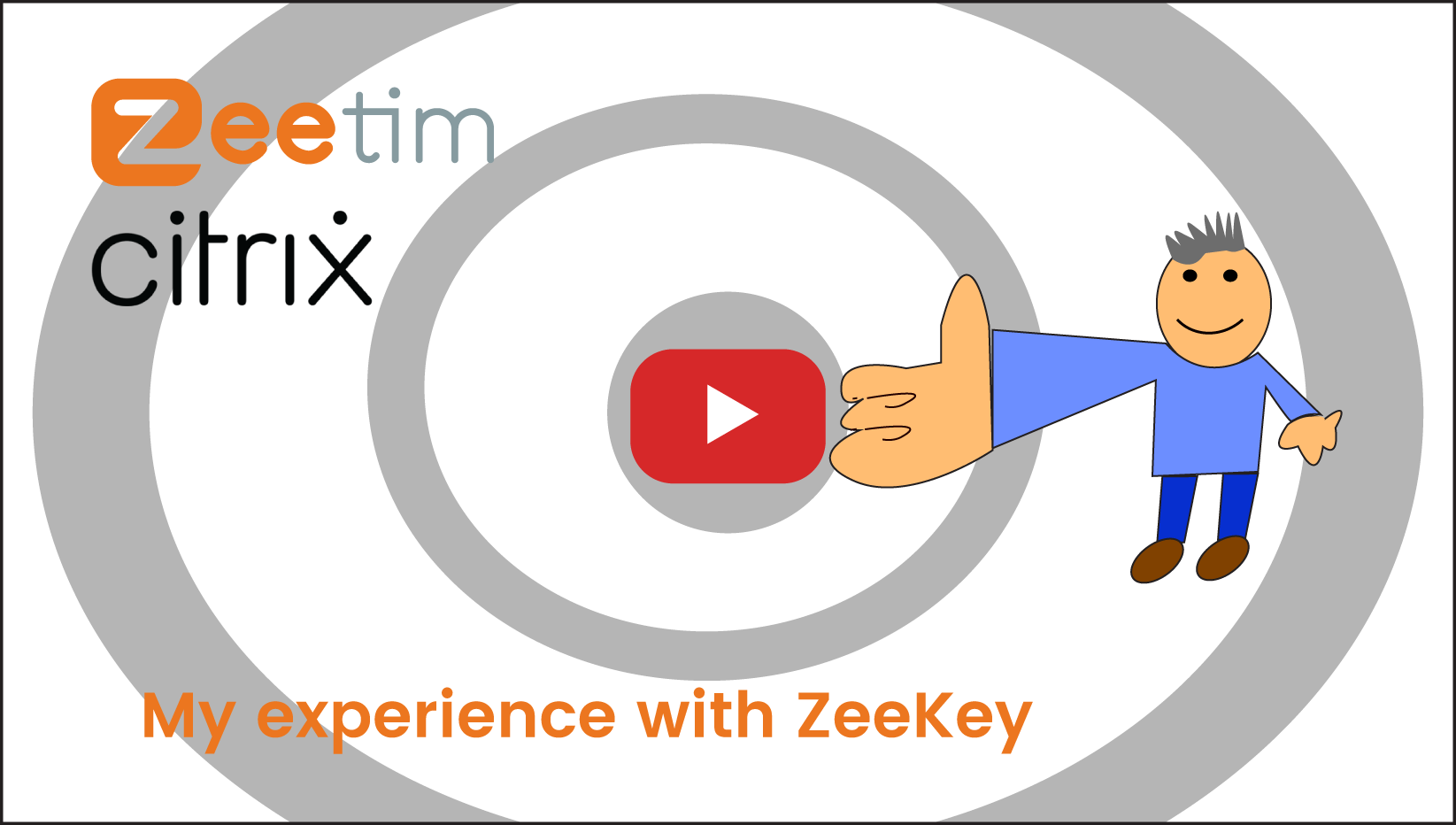 A customer explaining the fantastic user experience he encountered using ZeeKey.